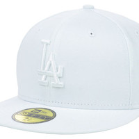 Los Angeles Dodgers MLB White on White Fashion 59FIFTY Cap
