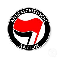 Antifa Round Sticker from Zazzle.com