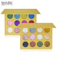 12 color Glitter Eye Shadow Bright Rainbow Pearl Granules Glitters Diamond Eye Shadows Cosmetic Makeup Eyeshadow