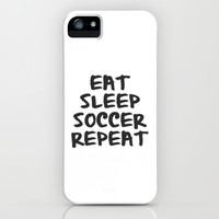 Eat, Sleep, Soccer, Repeat iPhone & iPod Case by Bunhugger Design