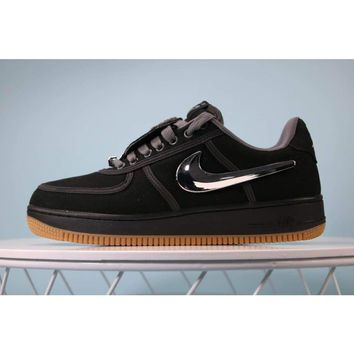Travis Scott x Nike Air Force 1 Black #AQ4211-***