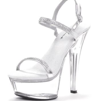 Ellie Shoes Diamond Glitter Sparkle Ankle Strap With Clear Stiletto Pump  Heel (11 4df681b20