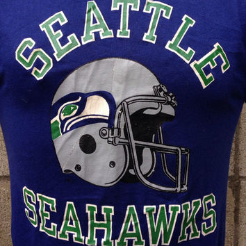 Seattle Seahawks Shirt Tee Vintage Champion 1980s NFL size M
