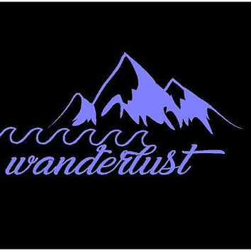 Wanderlust Decal Wanderlust Custom Vinyl Decal Wanderlust Laptop decal Wanderlust car decal Wanderlust custom sticker Boho Decal