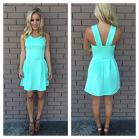 Mint Britney Dress