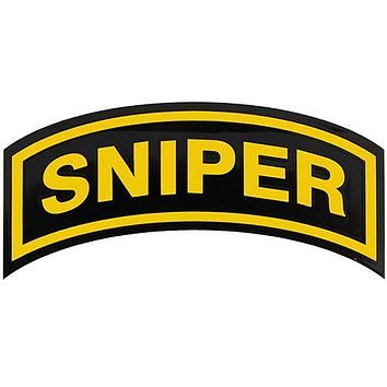 U.S. Army Sniper Small Arch Decal