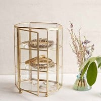 Glass Octagon Display Box- Bronze One