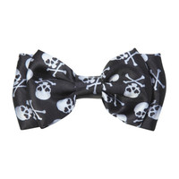 Skull Crossbones Hair Bow