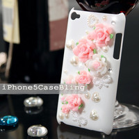 ipod touch 4 case, ipod touch 5 case, ipod touch 4 cover, Cute ipod touch 5 case, bling ipod touch 5 case, cute ipod touch 4 case flowers
