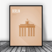 Berlin Brandenburg Gate Art Print Poster