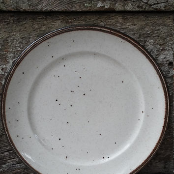 "IRONESTONE DINNER PLATE, Johnson Brothers, ""Speckled Brown and Cream"" Plate, England, Rustic Decor, Farmhouse Decor, 10"", 4h, Entertaining"