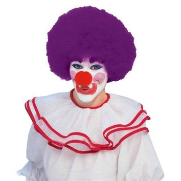 Bright Color Afro Wig Circus Clown Costume Accessory Adult Halloween Fancy Dress