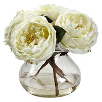 Nearly Natural Fancy Rose with Vase