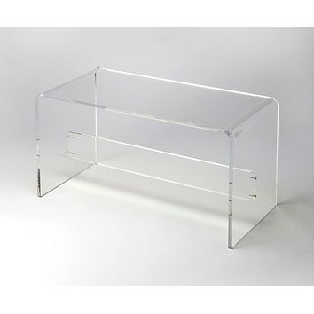 Butler Crystal Clear Acrylic Bench