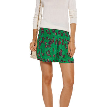 Étoile Isabel Marant Sertille floral-print crepe de chine shorts – 58% at THE OUTNET.COM