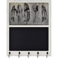 Lera Chalkboard With Hanging Hooks