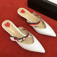 Gucci Women Fashion Simple Casual Low Heeled Shoes