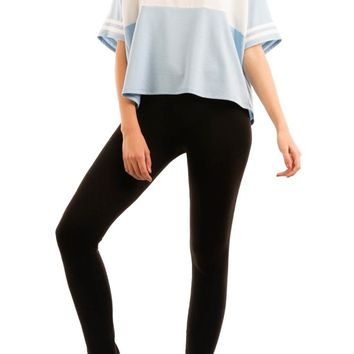 Athletic Shirt With Stripe Detail