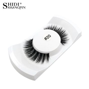 1 Pair Natural False Eyelashes Makeup 3d Mink Lashes Eyelash Extension Fake Lashes Strip Faux Eye Lashes Mink Eyelashes #20