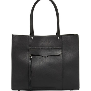 Rebecca Minkoff M.A.B. Medium Leather Tote Bag, Black
