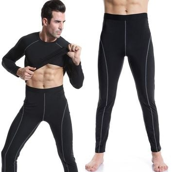 Men High Stretch Tight  Long Low Waist Sexy Men's Legging clothing  PRO cargo Pants Designed Sweatpants compression pants