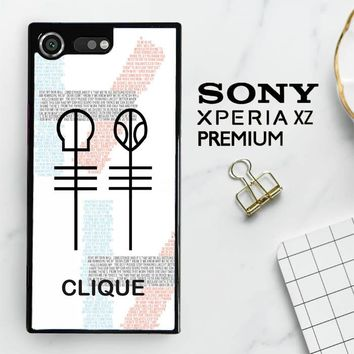 Twenty One Pilots Skeleton Clique X3438 Sony Xperia XZ Premium Case