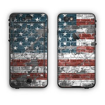 The Vintage USA Flag Apple iPhone 6 LifeProof Nuud Case Skin Set