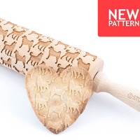 Husky - Embossed, engraved rolling pin for cookies