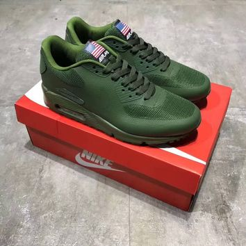 """Nike Air Max 90"" National Flag Men Sport Casual Fashion Air Cushion Running Shoes Sneakers"