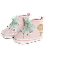 Walmart: Child of Mine by Carters Newborn Baby Girl Monkey High Top Sneakers