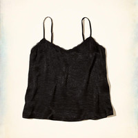 Girls Lace-Trim Satin Cami | Girls Tops | HollisterCo.com