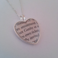 The Great Gatsby 'Gatsby' Book Page Necklace