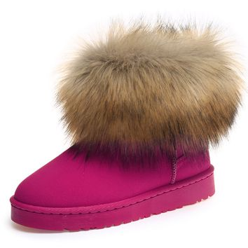 Womens Stunning Fur Winter Ankle Boots