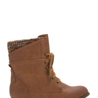 Sweater Weather Cuffed Lace-Up Boots