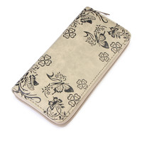Olive Butterfly Print Wallet