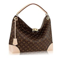 LV Authentic Louis Vuitton Monogram Canvas Berri MM Handbag Article:M41625 Made in France