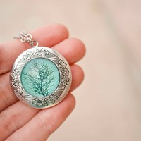 Tree Locket Necklace
