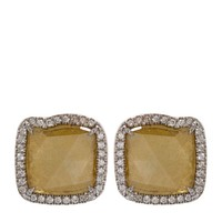Susan Foster Diamond Slice Pavé Earrings | Harrods.com