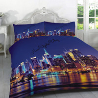 Duvet cover set New York City single, double or king