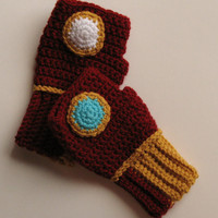 Original Iron Man Power Wristwarmers, Fingerless Gloves, Gauntlets, Cosplay Accessory, Marvel Comics Avengers, Ready to Ship