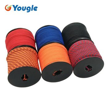 YOUGLE 5Strand 350LB 3MM Paracord Parachute Cord Lanyard Rope Hiking Camping Rope Clothesline Emergency Equipment 164FT