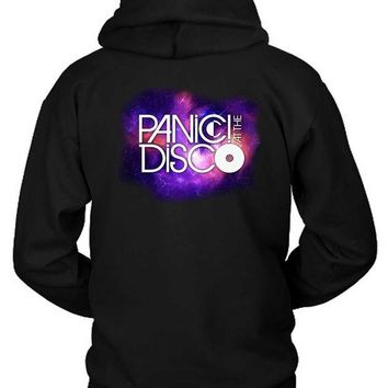 DCCKG72 Panic At The Disco Logo In Space Wallpaper Hoodie Two Sided