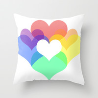 Hearts Throw Pillow by Pop E. Carp