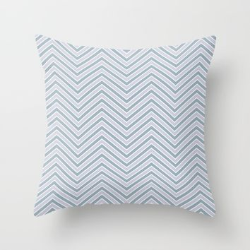 Slate and Lavender Chevron Pattern 2 Throw Pillow by tjustleft