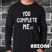 You Complete Mess Shirt 5 Second Of Summer Luke Hemmings 5sos Long Sleeved Printed Black and White Color Unisex Size - AR57