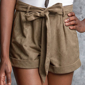 Hayley Suede Shorts