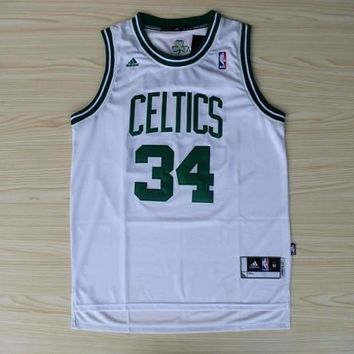 Men's Boston Celtics Paul Pierce no.34 Swingman White  Jersey