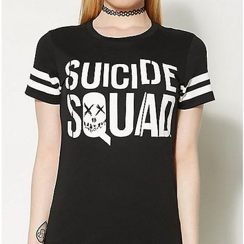 Movie Logo T Shirt - Suicide Squad - Spencer's