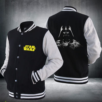 2017 New Darth Vader Baseball Jacket Star Wars Jedi knight winter Zip Hoodie For Men Sweaters Sale Hot size More size EE. UU. EU