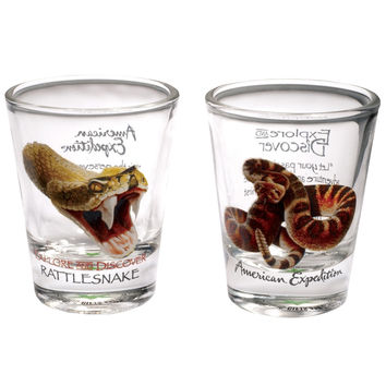 Rattlesnake Two Piece Shot Glass Set